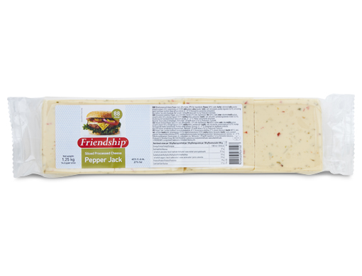Friendship Pepper Jack sliced processed cheese
